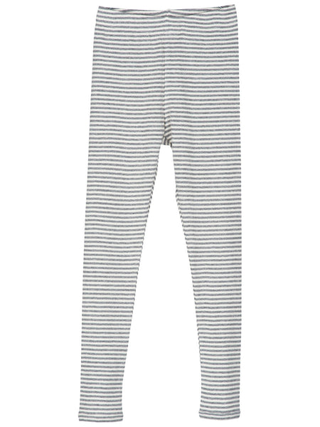 Serendipity Organic Leggings Stripes - Gray-Off White