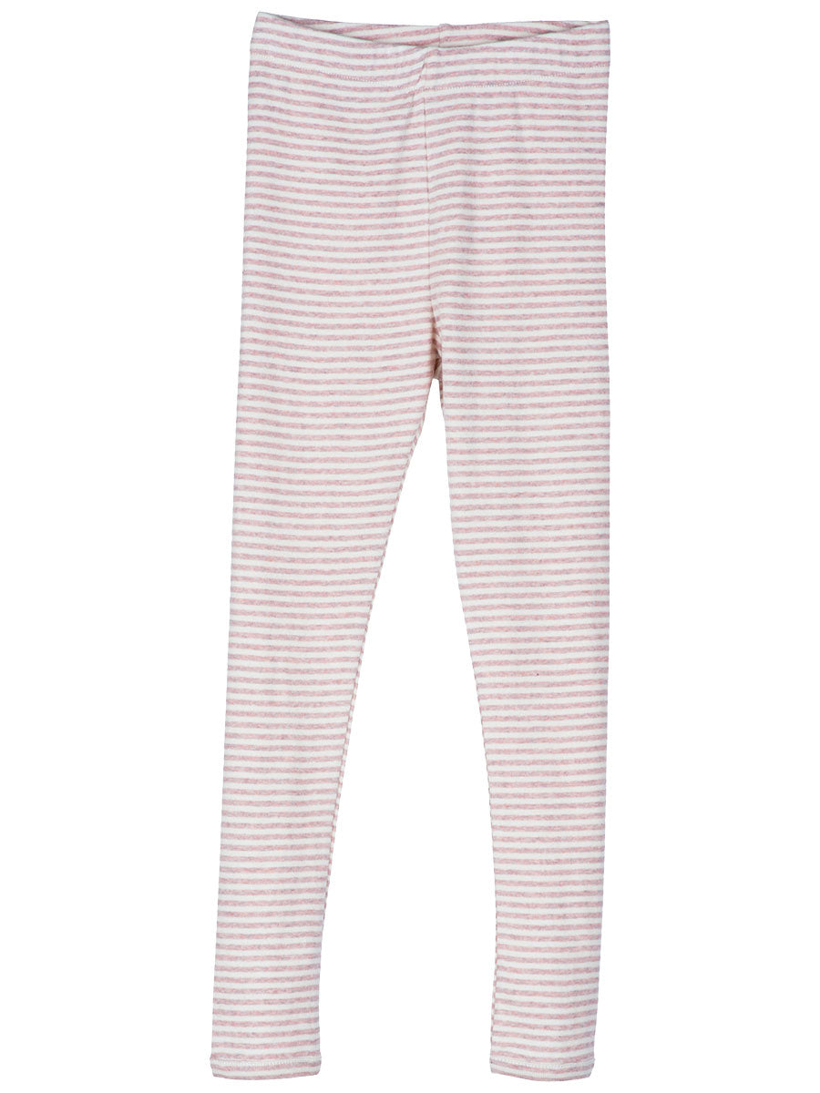 Serendipity Organic Leggings Stripes - Powder