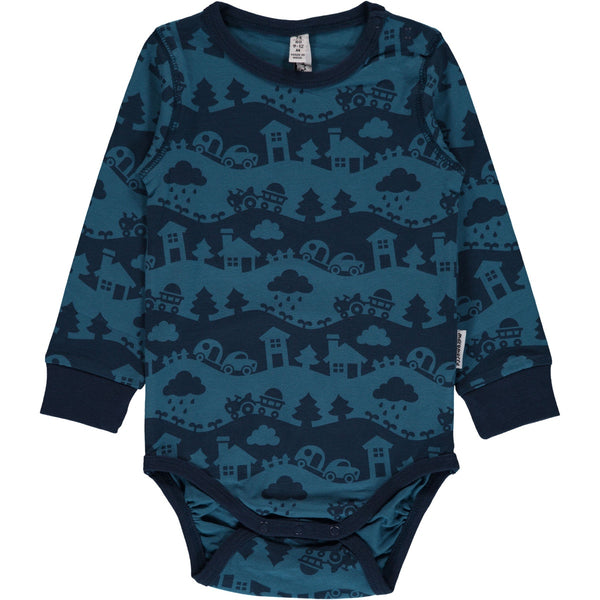 Maxomorra Body L/S - Blue Landscape