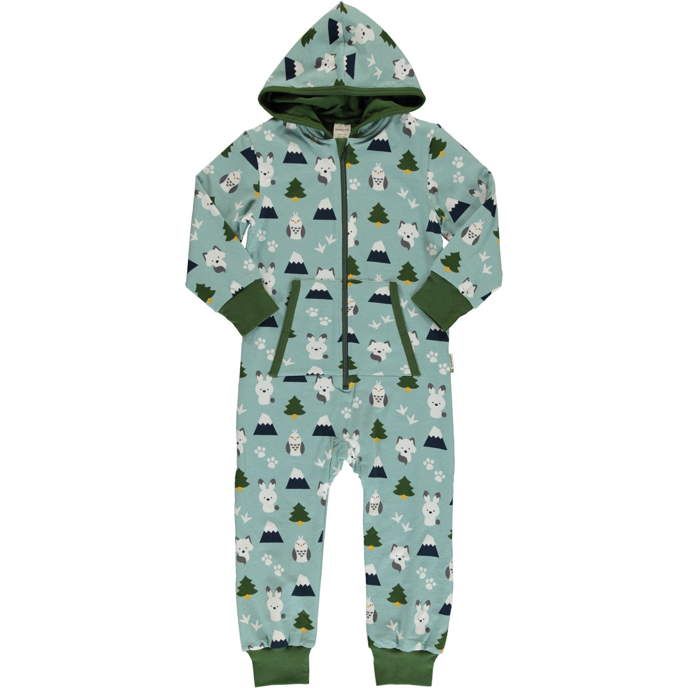 Maxomorra Organic Hooded One-Piece, Winter World