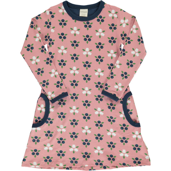 Maxomorra Organic Dress, Blueberry Blossom
