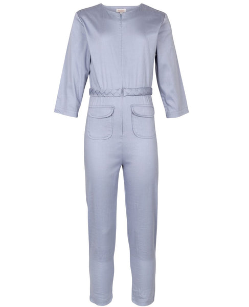 Elodiee Organic Jumpsuit - Soft Cloud