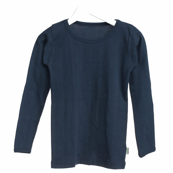 Okker-gokker organic t-shirt l/s, navy<br>Size 2-6 years