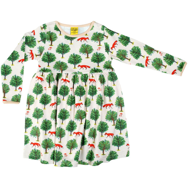 DUNS Organic Fox & Tree Dress