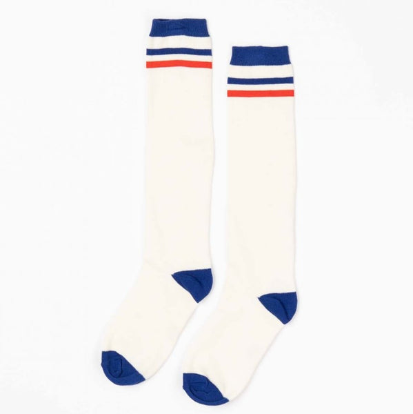 Alba Knee Socks Solidate Blue