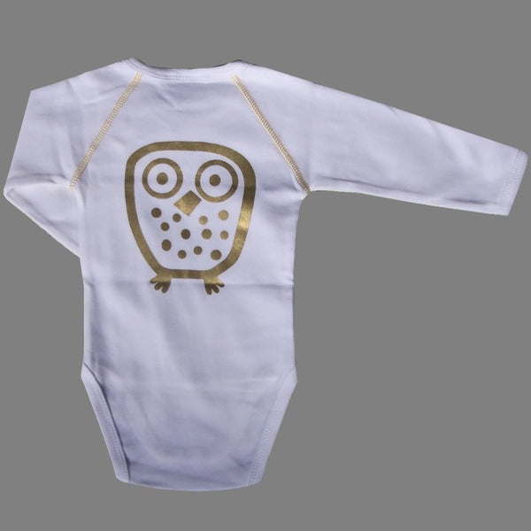 Ej Sikke Lej Bodysuit With Gold Owl On Back<br>Size 1 Month