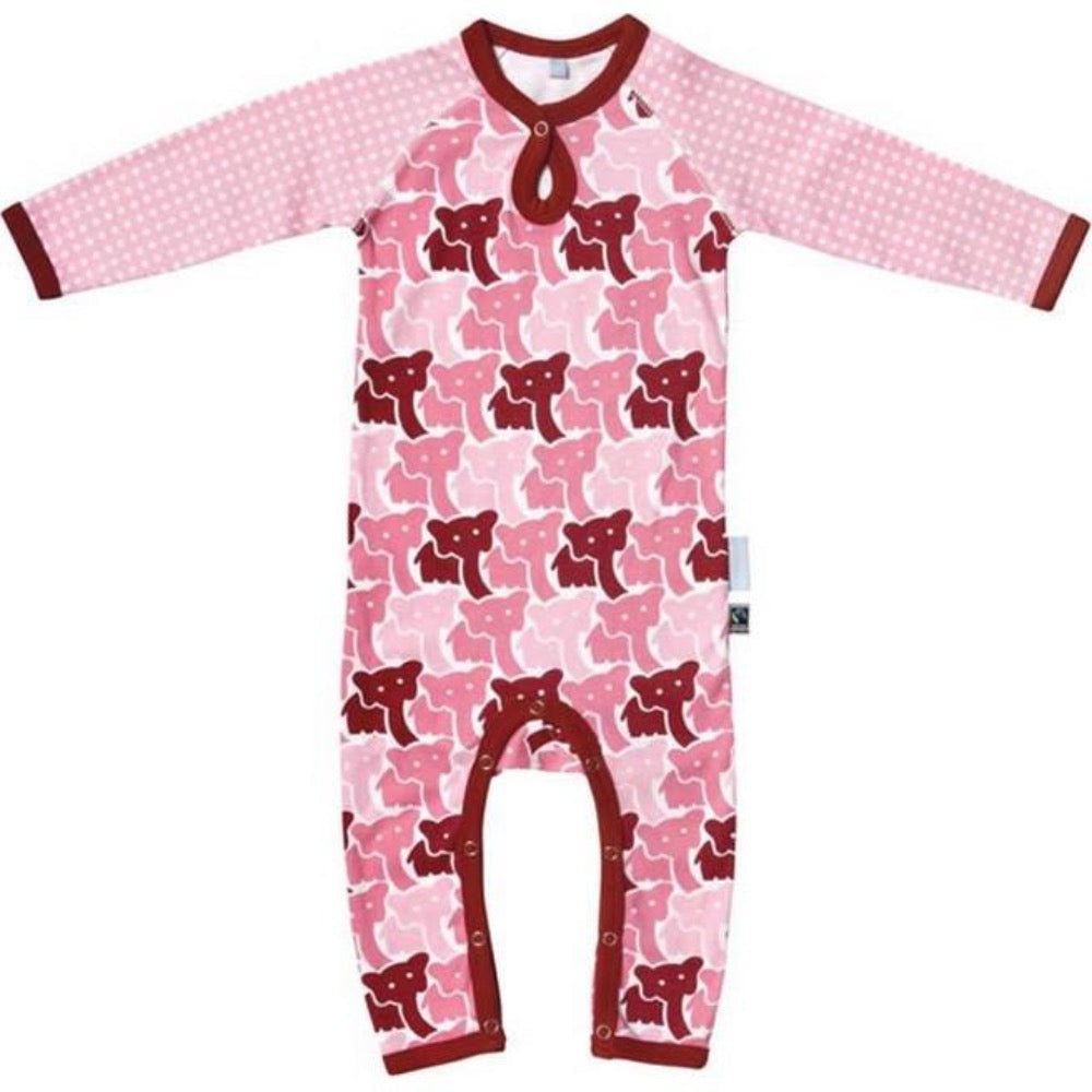 Franck & Fischer pink one-piece. Fairtrade & organic cotton