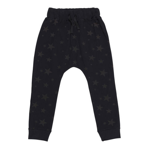 Funky Legs organic star pants, black
