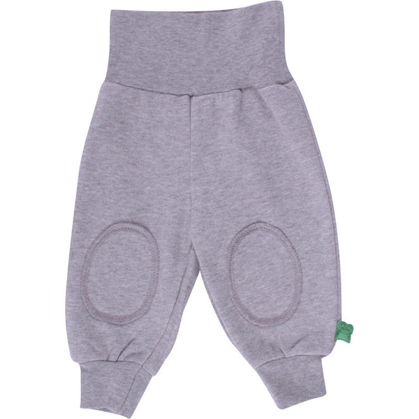 Green Cotton baby sweat pants, melange gray