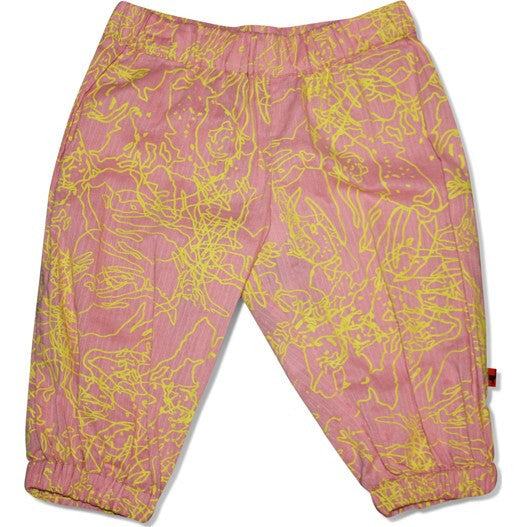H.J.O.R.T.H baby pants, yellow print