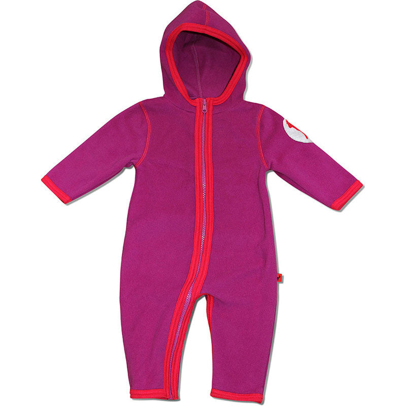 Hjorth baby fleece suit, purple