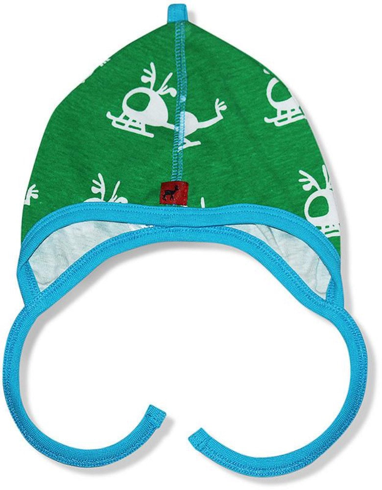 Hjorth baby hat, helicopter with antlers print