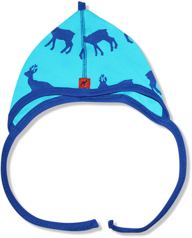 Hjorth blue deer baby hat
