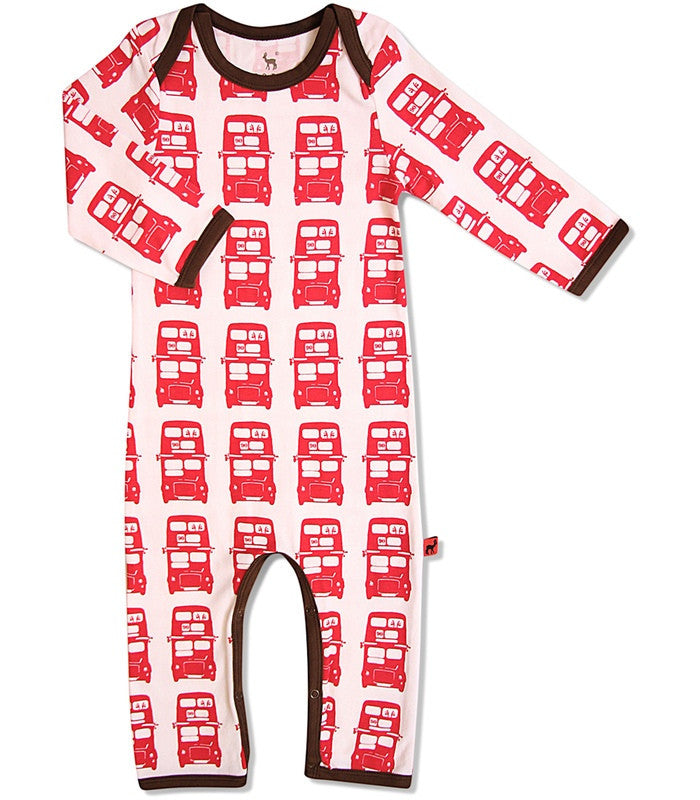 Hjorth one-piece, bus print, organic cotton