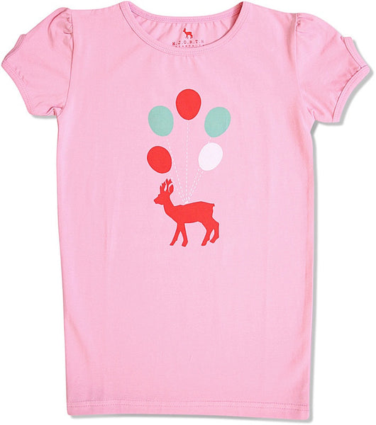 HJORTH organic balloon and deer t-shirt