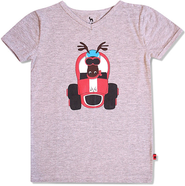 HJORTH  race t-shirt s/s. Size 18M - 10Y