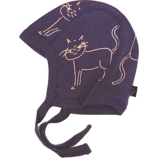 IdaT baby helmet, purple with cats