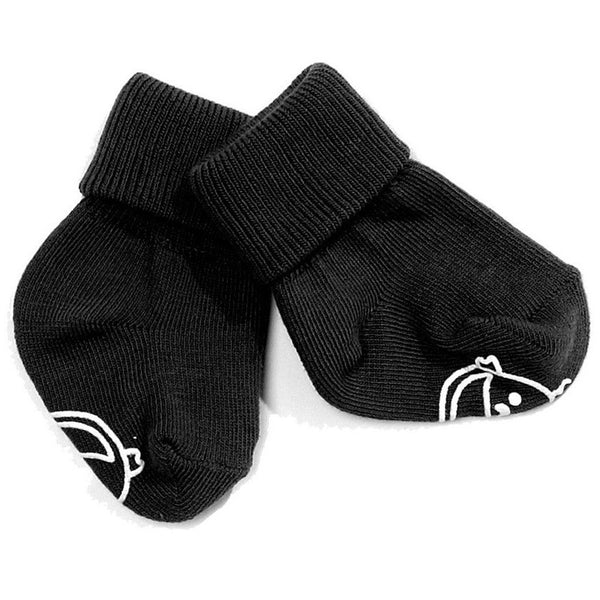 IdaT black cotton socks