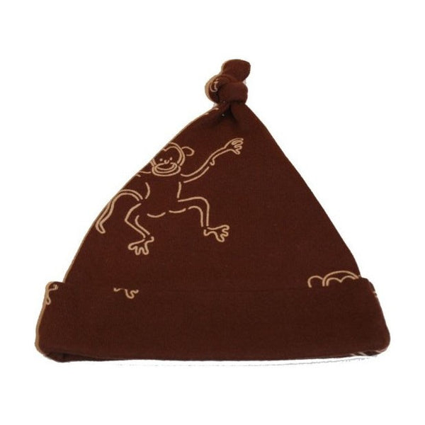 IdaT brown top hat with monkeys