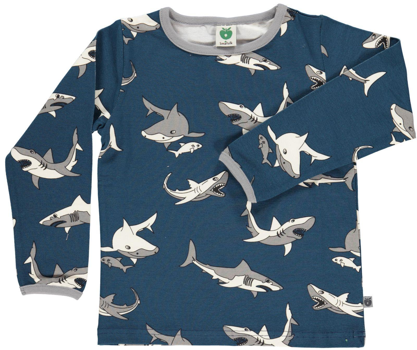 Smafolk Shark T-shirt L/S