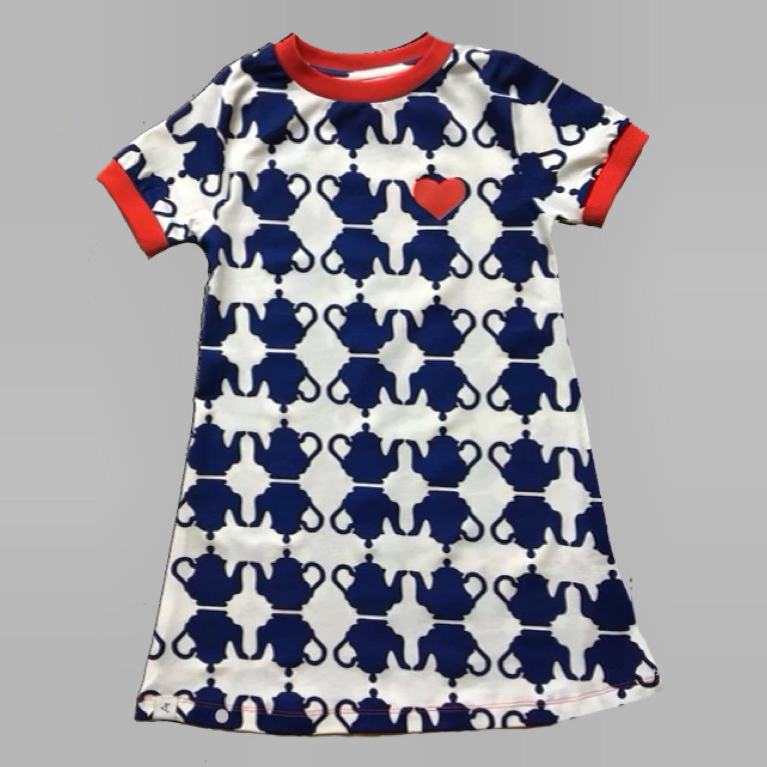 Alba Dress, Solidate Blue Teapots
