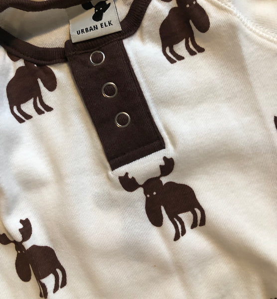 Urban Elk Shirt Brown Elk Print