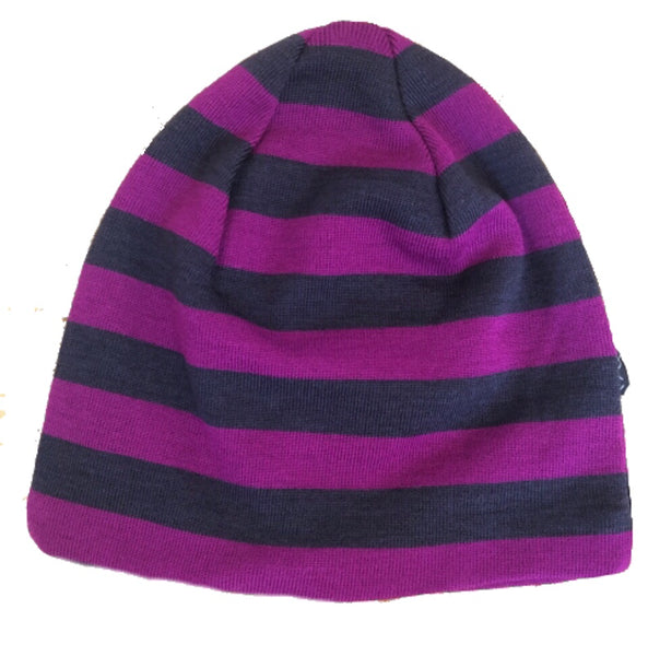 Mikk-line wool hat, fuchsia stripes