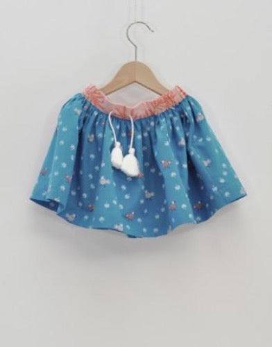 La Queue du Chat skirt, 100% organic <br>Size 3-10 Years