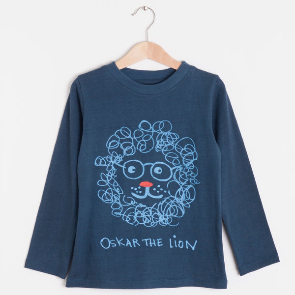 Nadadelazos Organic Tee - Oskar The Lion