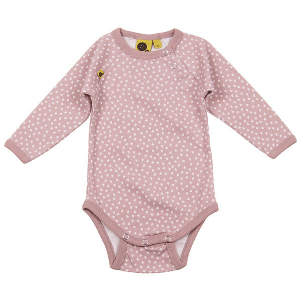 Krutter Bodysuit, Pink With Hearts