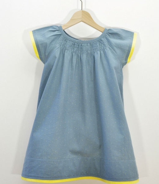 La Queue du Chat dress, a 1000 dots <br> Size 18M - 6Y