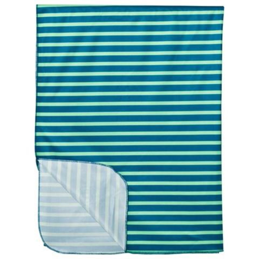 Geggamoja UV blanket blue/green stripes