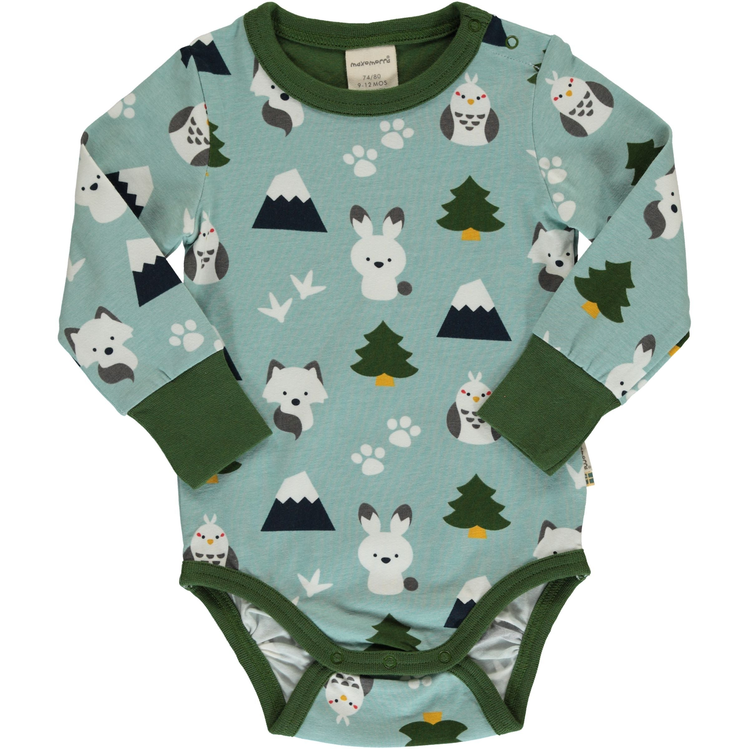 Maxomorra Organic Bodysuit L/S Winter World