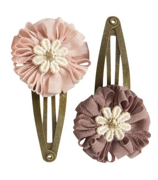 Maileg 2 PCS Hair Clip Set, Dusty Rose and Purple