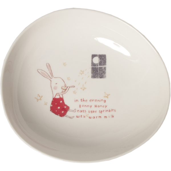 Maileg melamine bowl, bunny honey