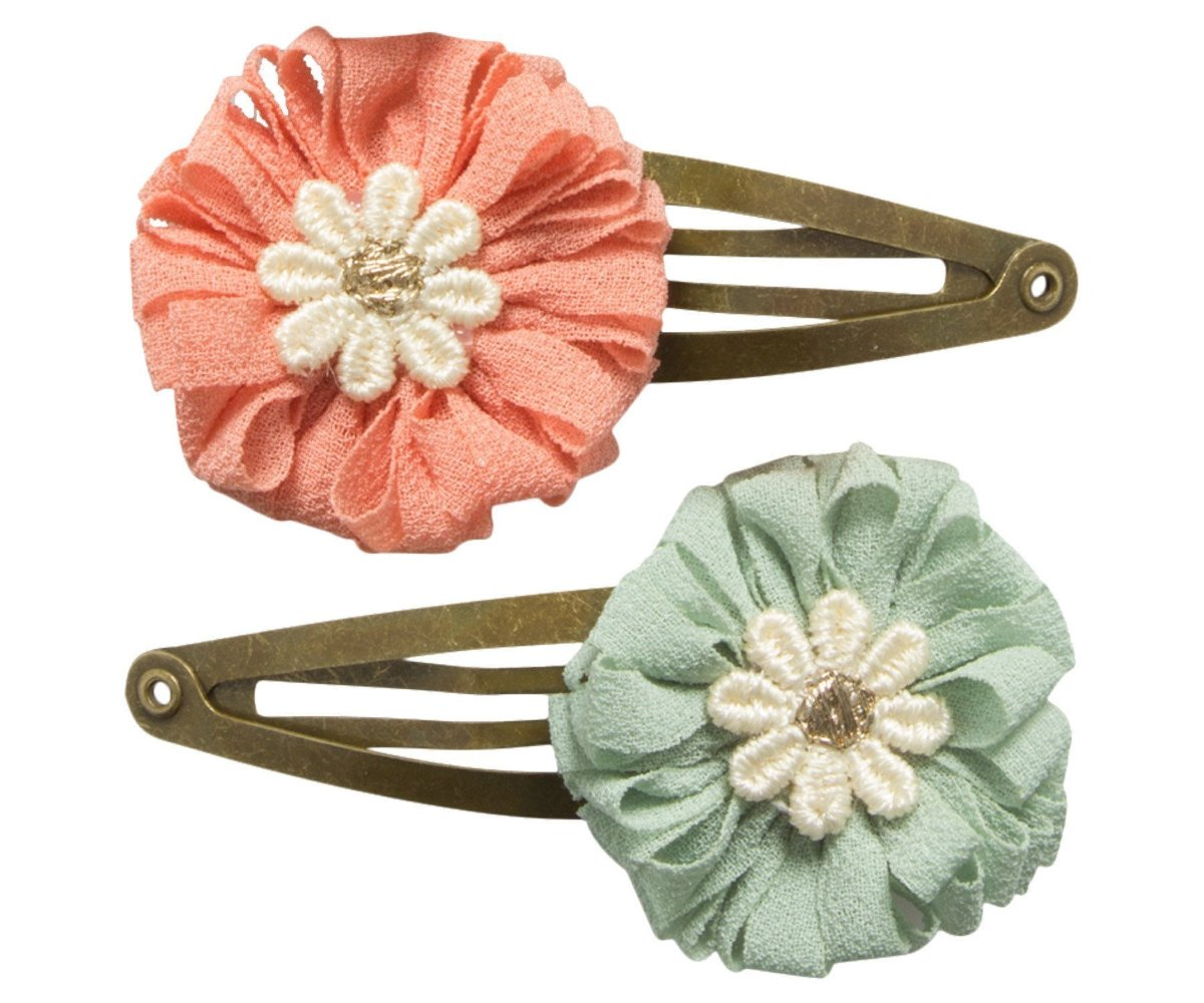 Maileg  2 PCS Hairclip Set., Rose & Green