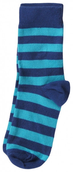 Maxomorra baby socks, blue/turquoise stripes