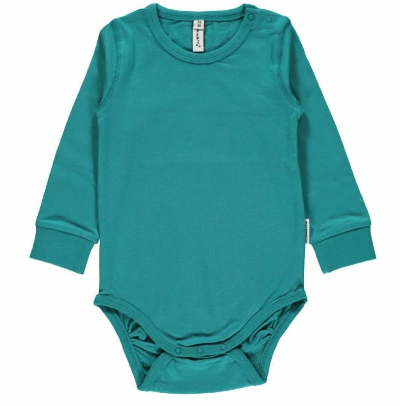 Maxomorra Body L/S - Soft Petrol