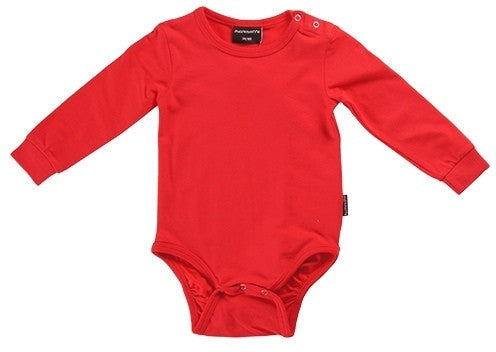 Maxomorra bodysuit, red
