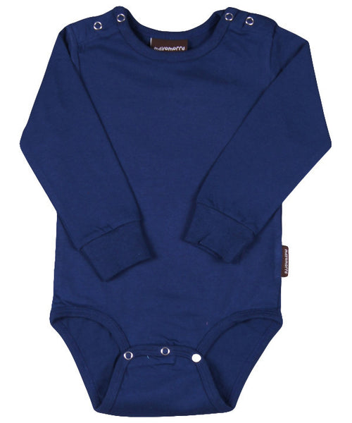 Maxomorra dark blue bodysuit l/s