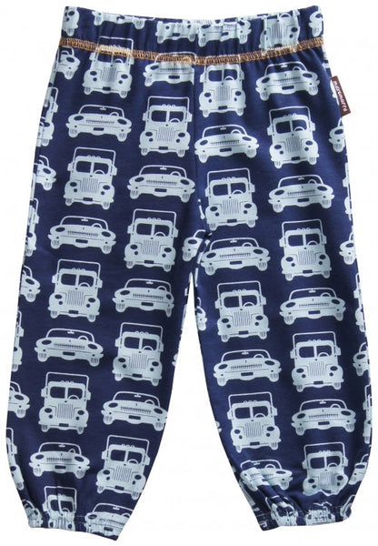 Maxomorra organic baby pants, cars and trucks