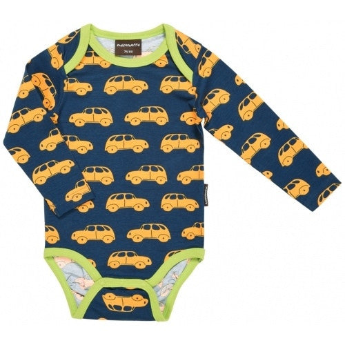 Maxomorra organic body l/s, car print
