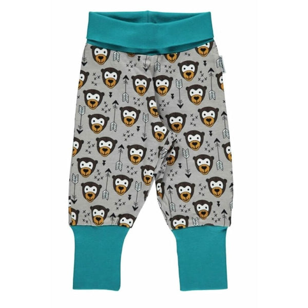 Maxomorra Organic Arrow Monkey Baby Pants