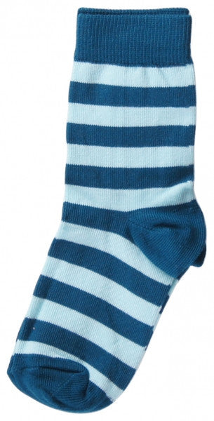 Maxomorra socks, petrol/light blue