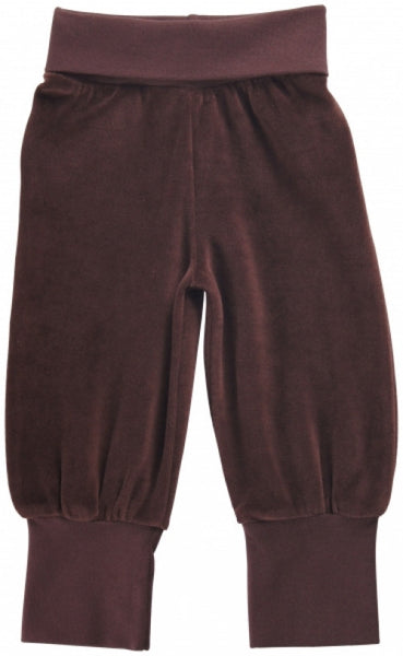 Maxomorra velour pants, brown