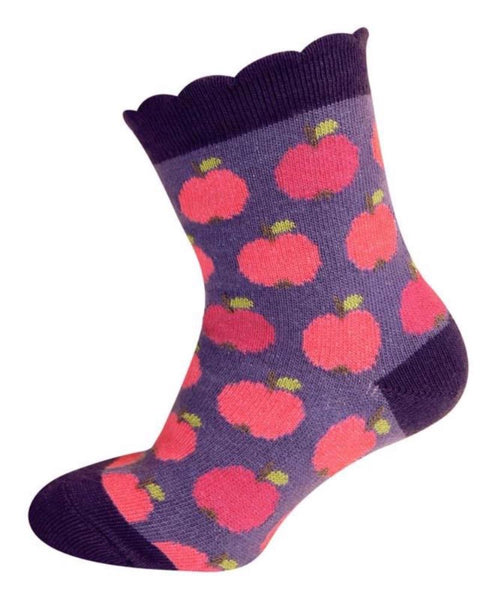 Melton socks, apples<br>0-3 years
