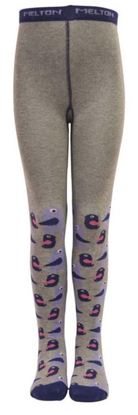 Melton tights, happy birds