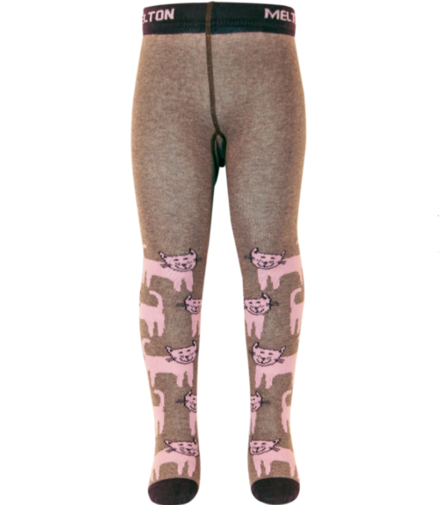 Melton tights, happy cats<br>Size 6M - 4Y