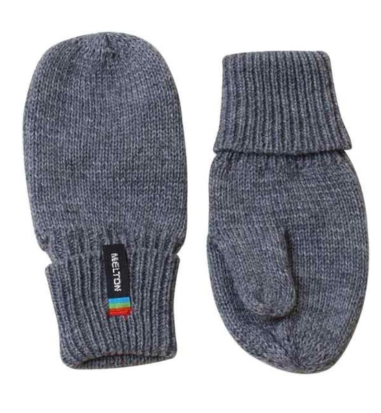 Melton gray wool mittens<br>Size 1-3Y
