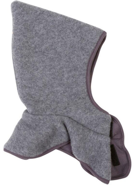 Mikk-line gray wool  balaclava with collar